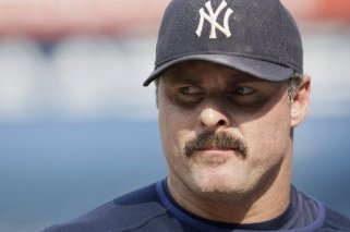 Jason Giambi with mustache