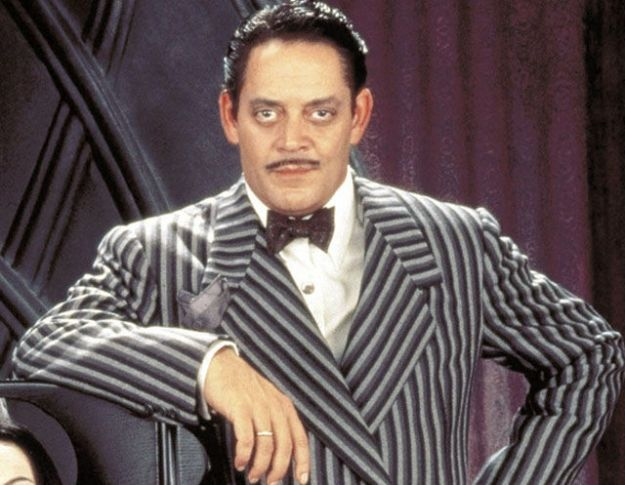 Raul Julia was not at all scary in The Addams Family movies. He was suave,  and so was his mustache.