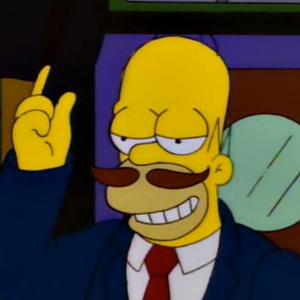 Homer Simpson Mustache