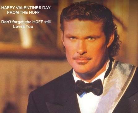 David Hasselhoff Valentines Day Mustache