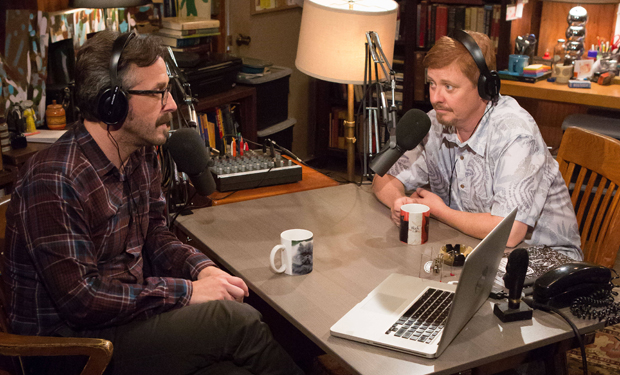 Marc Maron and Dave Foley Mustache